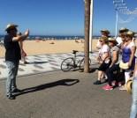 Turistas y participantes se hicieron fotos durante toda la pintoresca romería