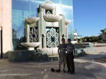 Con Opi en Pabellon de Marruecos. Uno de los preferidos de Álvaro