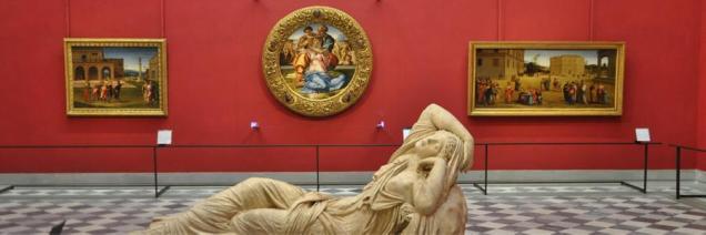 Una de las salas de los Uffizi