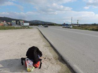 Mi mochila lista para viajar a Gjirokastra desde Levan