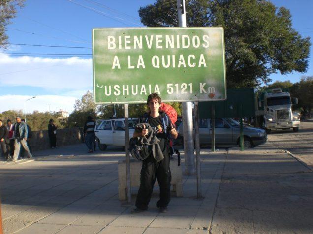 Yo en La Quiaca