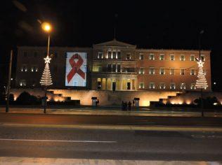 Syntagma de noche: dia internacional contra la lucha del HIV
