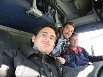 Alen, Alexander y yo, en la ruta.