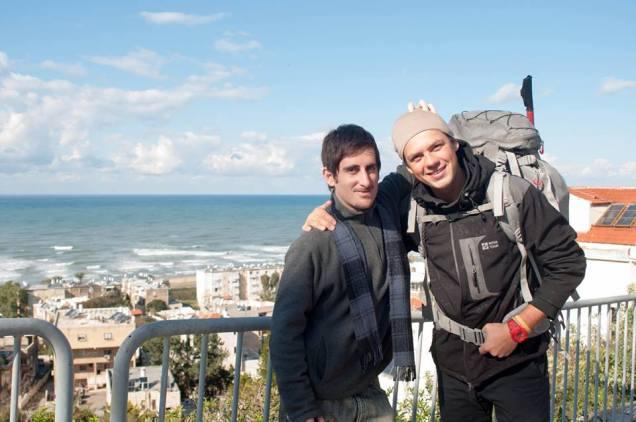 Vitaly y yo en Haifa
