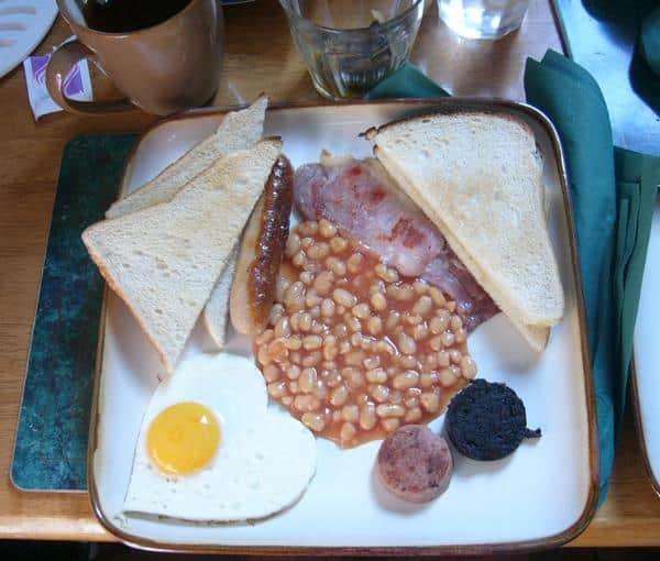 Desayuno irlandés Dublín