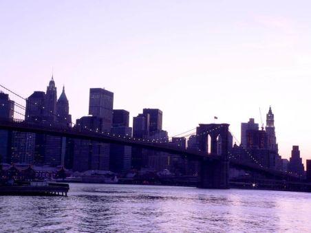 Atardecer Puente Brooklyn Nueva York