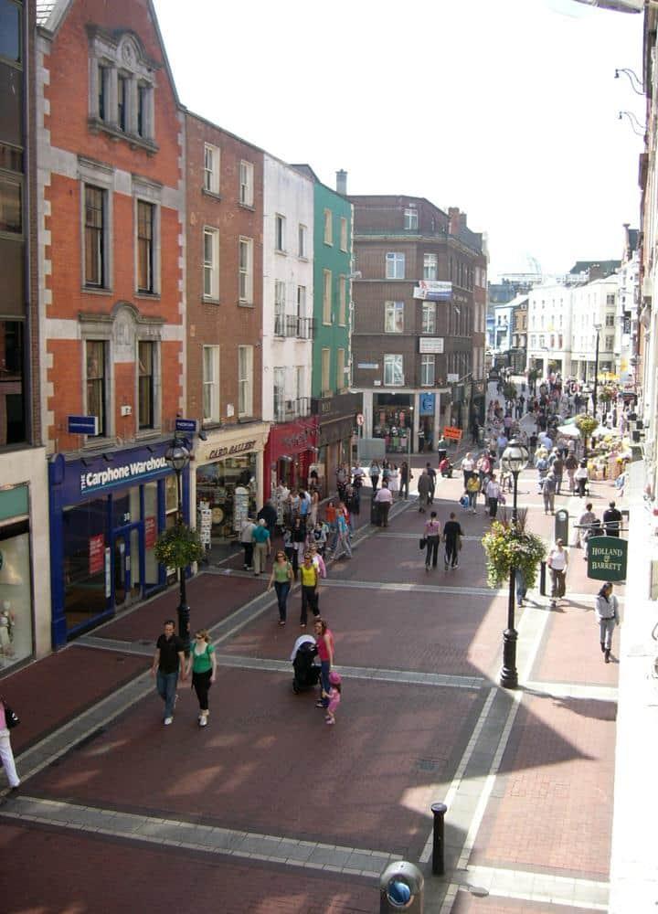 Calles comerciales Dublín Centro