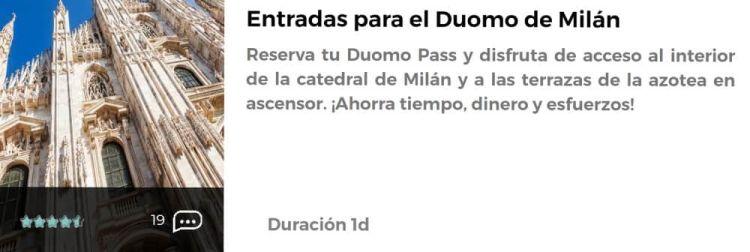 Entradas para el Duomo de Milán