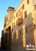 Restos de mezquitas construidos en el templo de Lúxor