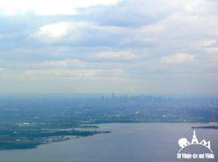 Vistas desde el avión a Nueva York