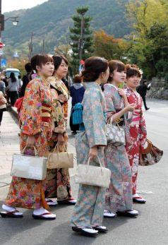 Kimonos en Kioto