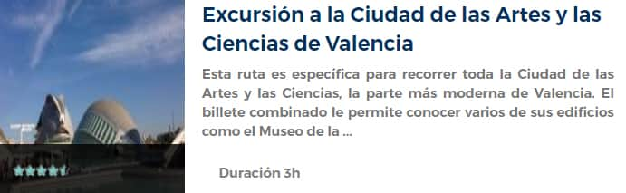 Excursión a la Ciudad de las Artes y las Ciencias de Valencia