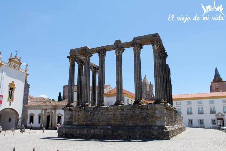 Templo Romano en Évora, Portugal
