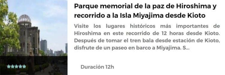 Excursión de Hiroshima y Miyajima