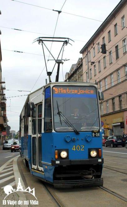Tranvía en Cracovia
