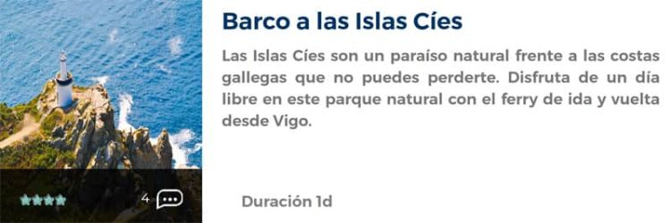 Barco a las Islas Cíes