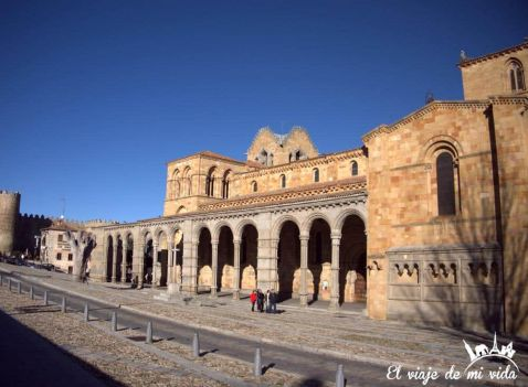 Basilica San Vicente en Ávila, España