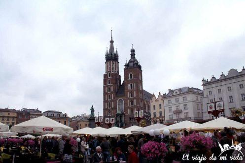 Plaza del mercado de Cracovia, Polonia
