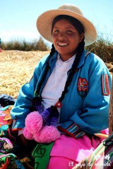 Isla de Uros en Perú