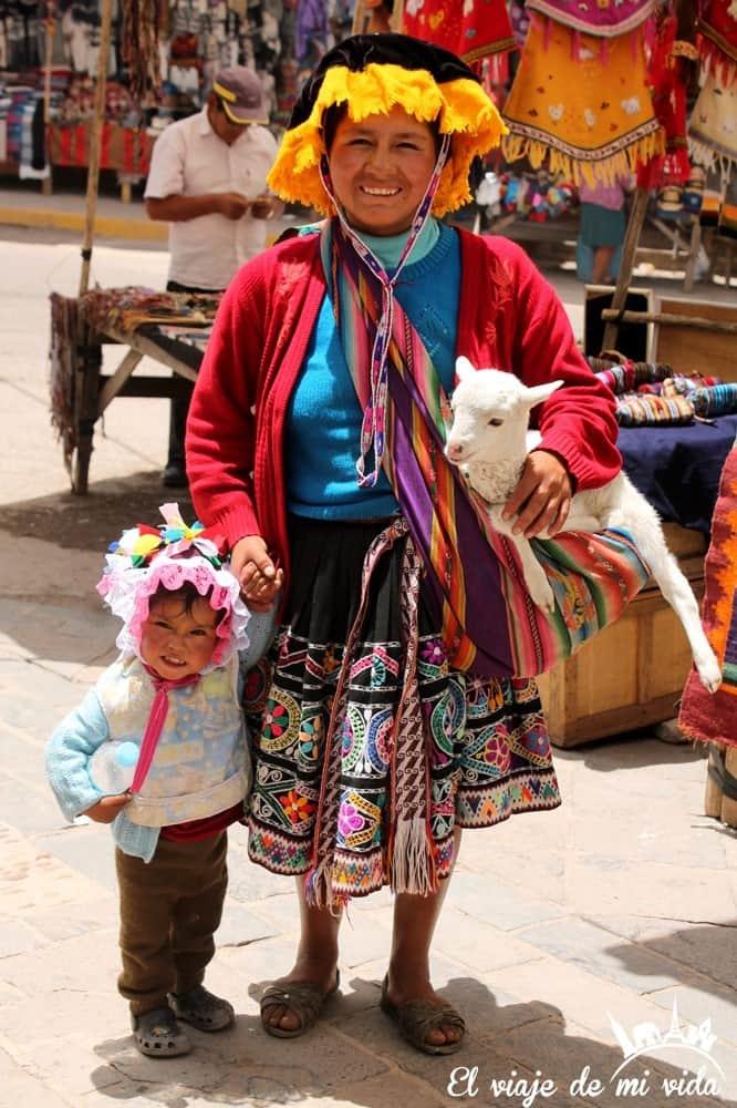 Pueblo de Pisac en Perú