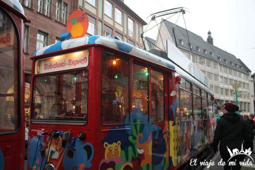 Tren navideño en Frankfurt