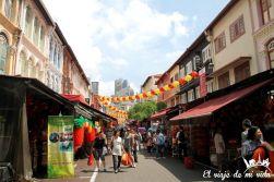El barrio de Chinatown en Singapur