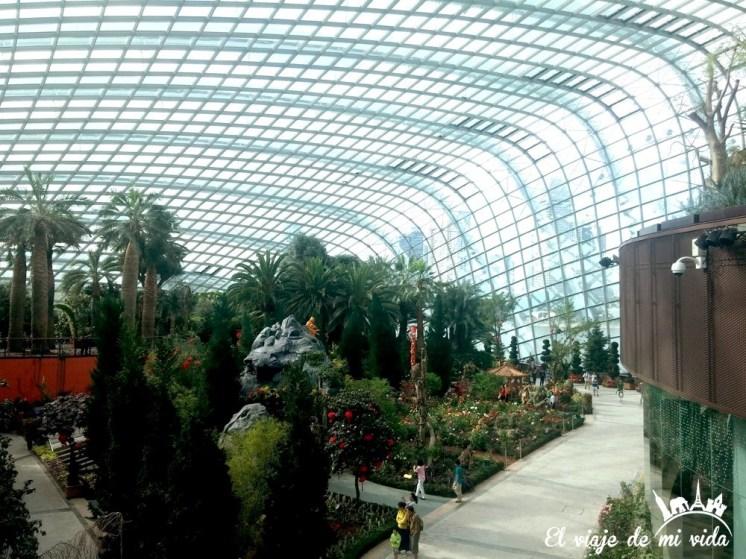 Interior de Gardens by the Bay en Singapur