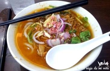 Laksa, gastronomía de Penang, Malasia
