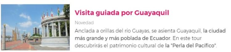 Visita por Guayaquil