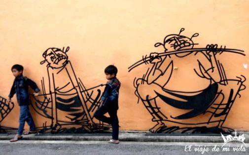Streetart en Penang