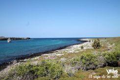 La isla Plazas Sur en Galápagos