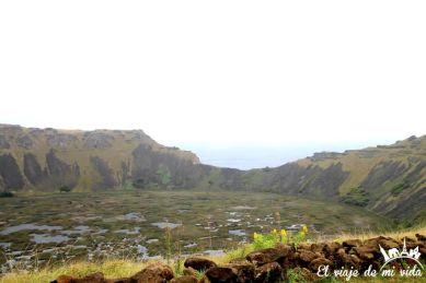 El cráter del volcán Rano Kau