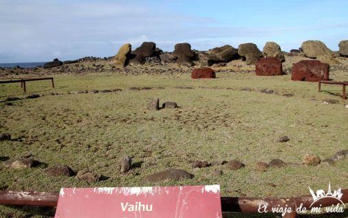 Las ruinas de Vaihu en la Isla de Pascua