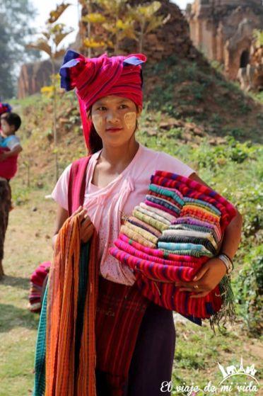 Indein en el lago Inle, Birmania