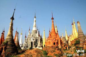 Estupas de Indein en Birmania