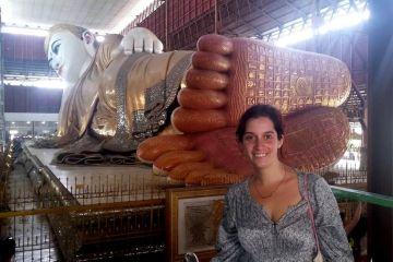 Buda Reclinado de Rangún, Myanmar