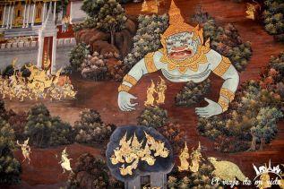 Pinturas del gran palacio de Bangkok, Tailandia