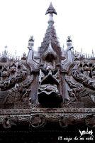 Detalles del monasterio de Shwenandaw
