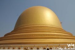 La pagoda redonda de Kaunghmudaw , Myanmar