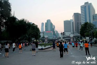 Parque Lumpini de Bangkok, Tailandia