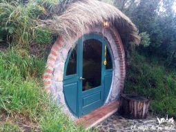 Habitaciones sencillas, modo hobbit, en el parque nacional de Cotopaxi