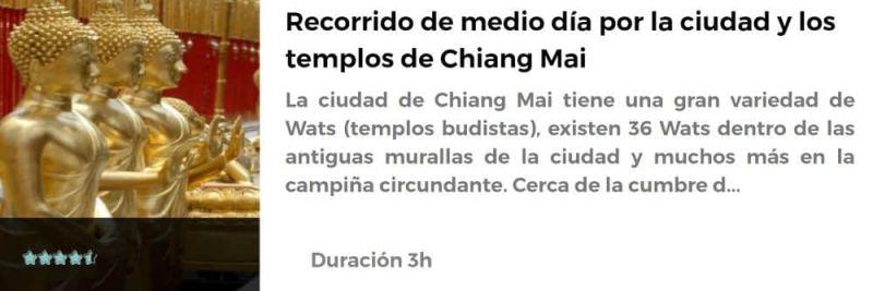 Recorrido por los templos de Chiang Mai