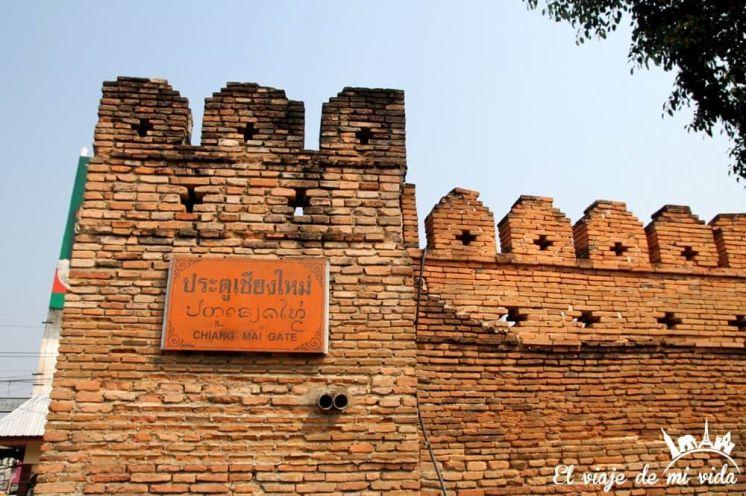 Las muralles de Chiang Mai