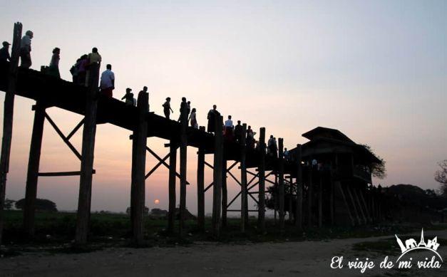 Puente U Bein, Mandalay, Myanmar