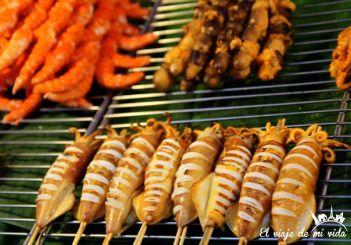 Comida callejera de Phuket Town, Tailandia