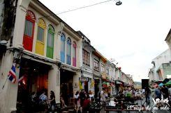 Calles de Phuket Town, Tailandia