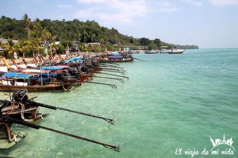 Llegada a Koh Phi Phi, Tailandia
