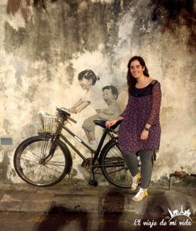 Disfrutando el streetart de Penang