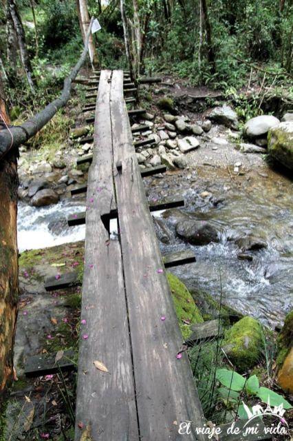 Cascada en el Valle de Cócora, Colombia