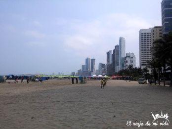 Playa Bocagrande, Cartagena, Colombia